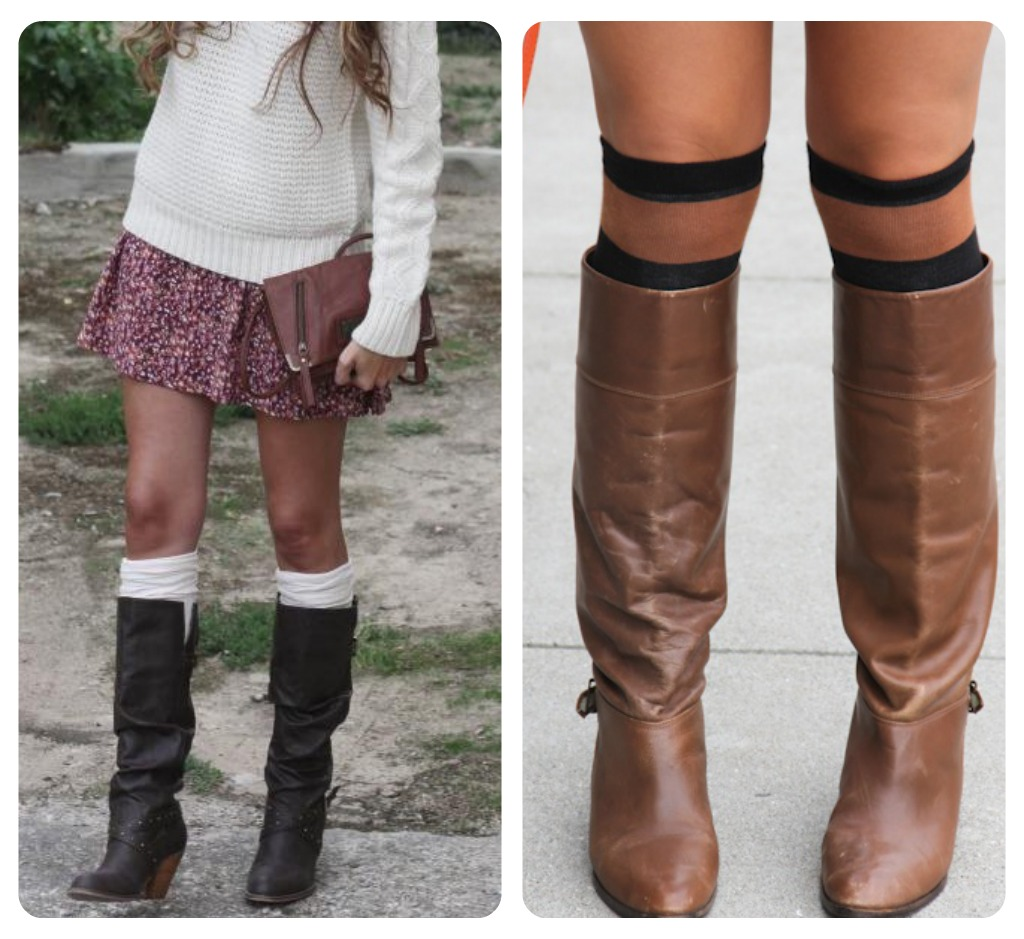 Fashion style How to boot wear socks with booties for girls