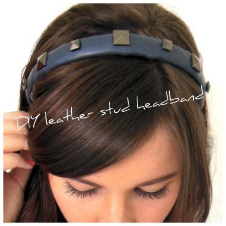 headband, DIY, leather, studs, pyramid,
