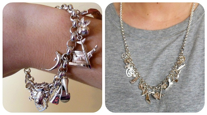 charm, bracelet, necklace, silver