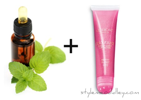 peppermint, lipgloss, instant plump, DIY, tips, beauty