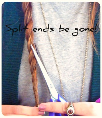 split ends, tips, DIY
