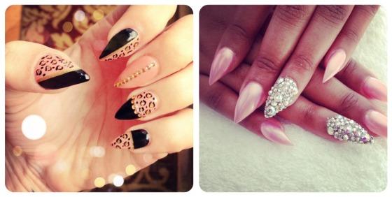 nail art, long nails