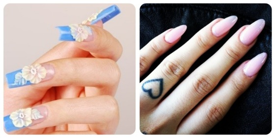 nail art, long nails